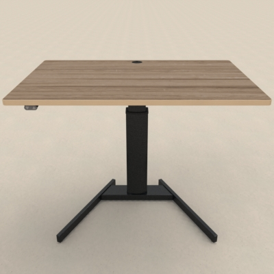 Electric Adjustable Desk | 120x80 cm | Walnut with black frame