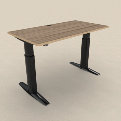 Electric Adjustable Desk | 150x80 cm | Walnut with black frame