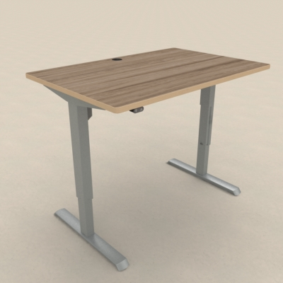Electric Adjustable Desk | 120x80 cm | Walnut with silver frame