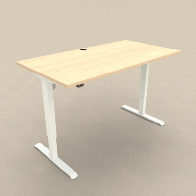 Electric Adjustable Desk | 150x80 cm | Maple with white frame
