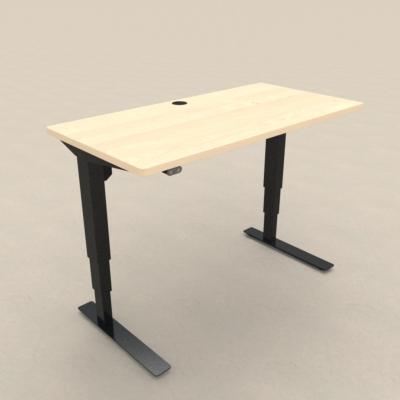 Electric Adjustable Desk | 120x60 cm | Maple with black frame