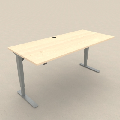 Electric Adjustable Desk | 180x80 cm | Maple with silver frame