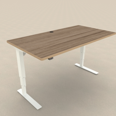 Electric Adjustable Desk | 150x80 cm | Walnut with white frame