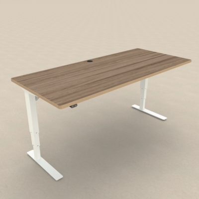Electric Adjustable Desk | 180x80 cm | Walnut with white frame